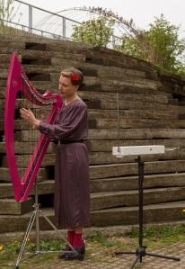 Oz harp and Theramin player